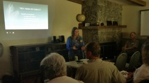Jeanie shares her restoration adventure with fellow forest owners at our Ecological Forestry workshop earlier this month.